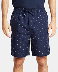 Men's Cotton Anchor-Print Pajama Shorts