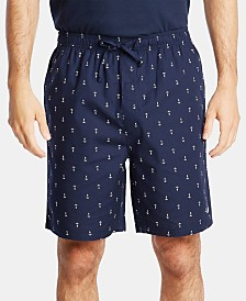 Nautica Men's Cotton Anchor-Print Pajama Shorts
