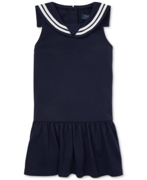 1920s Children Fashions: Girls, Boys, Baby Costumes Polo Ralph Lauren Little Girls Ponte Sailor Dress $27.00 AT vintagedancer.com