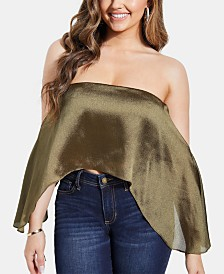 GUESS Julee Off-The-Shoulder Crop Top