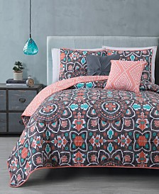 Ibiza 5-pc Queen Reversible Quilt Set