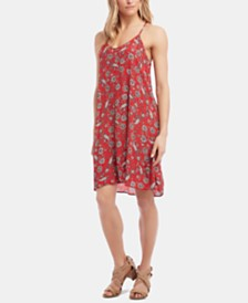 Karen Kane Sleeveless Printed Swing Dress
