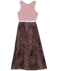 Rare Editions Big Girls Animal-Print Maxi Dress