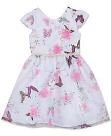 Rare Editions Toddler Girls Butterfly-Print Organza Dress
