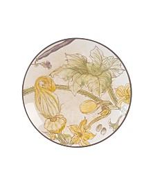 Fitz & Floyd  Fattoria Accent Plate with Squash Blossom