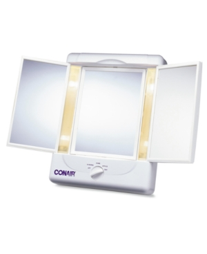 Conair TM7LX Double-Sided Lighted Makeup Mirror with 3 Panel