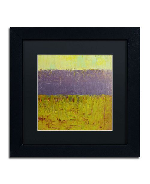 "Trademark Global Michelle Calkins 'Highway Series Lake' Matted Framed Art - 11"" x 11"""