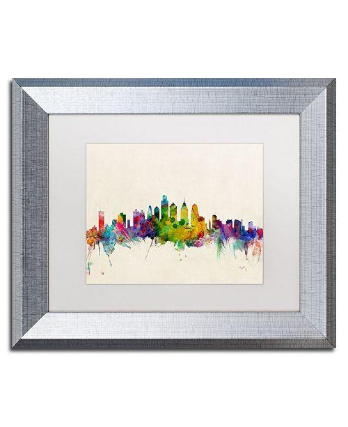 """Trademark Global Michael Tompsett 'Philadelphia PA' Matted Framed Art - 11"""" x 14"""""""