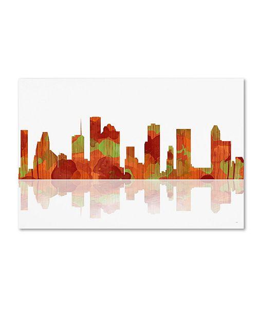Home Decor Stores Houston Tx: Trademark Global Marlene Watson 'Houston Texas Skyline II