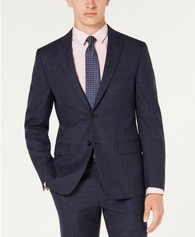 Lauren Ralph Men's Classic Fit UltraFlex Stretch Plaid Suit Jacket