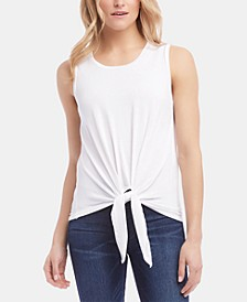 Sleeveless Tie-Hem Top