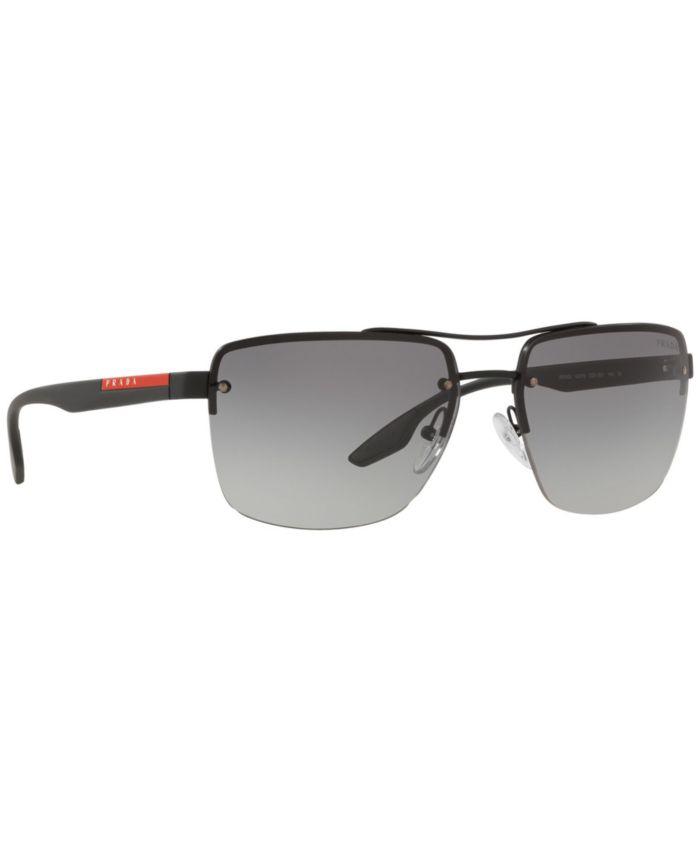 Prada Linea Rossa Sunglasses, PS 60US 62 LIFESTYLE & Reviews - Sunglasses by Sunglass Hut - Men - Macy's