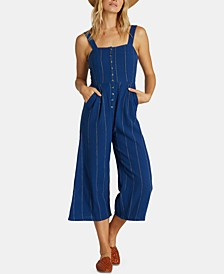 Juniors' Cotton Cropped Jumpsuit