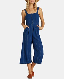 Billabong Juniors' Cotton Cropped Jumpsuit