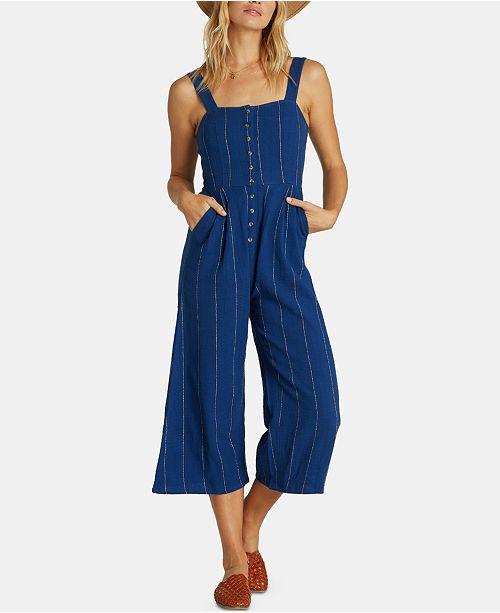 Billabong Juniors' Cotton Cropped Jumpsuit