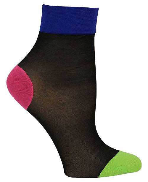 Steve Madden Women's Single Sheer Anklet Sock, Online Only