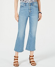 Bridgette Button-Fly Flare Jeans