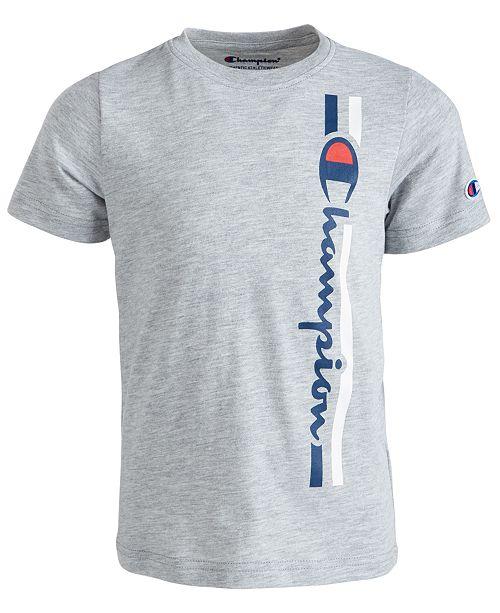 Champion Big Boys Vertical Logo-Print T-Shirt
