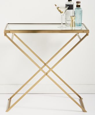 Gold Folding Bar Cart, Created for Macy's