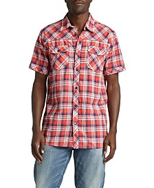 Silver Jeans Co. Cassidy Short-Sleeve Plaid Shirt