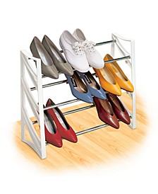 9 Pair Convertible Closet Shoe Rack Organizer