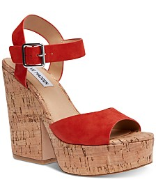 Steve Madden Women's Jess Cork Platform Sandals