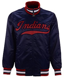 Starter Men's Cleveland Indians Captain Coop Satin Jacket