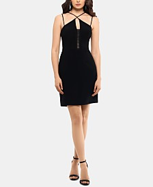 XSCAPE Ladder-Front Bodycon Dress
