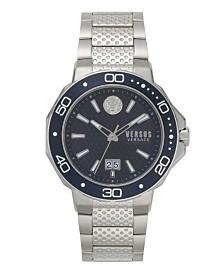 Versus Men's Silver Bracelet Watch 24mm