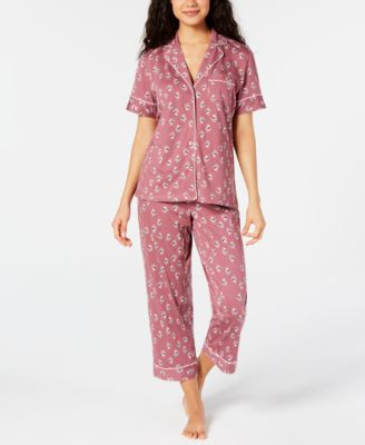 Cropped Printed Pajama Pants, Created for Macy's