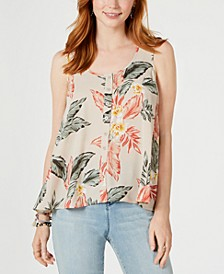 Printed Sleeveless High-Low Swing Top, Created for Macy's