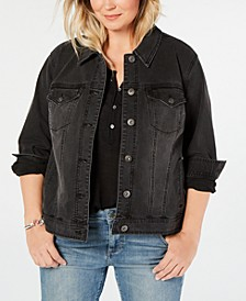 Plus Size Denim Trucker Jacket, Created for Macy's