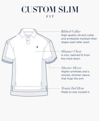 NWT Polo Ralph Lauren Men/'s Custom Slim Fit Mesh Polo Shirt