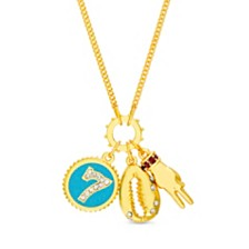 Steve Madden Women's Lucky Charms Chain Necklace