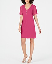 5ebaf71642 Thalia Sodi Necklace Shift Dress, Created for Macy's
