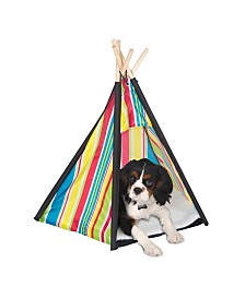 Pacific Play Tents Pet Teepee With Wood Poles
