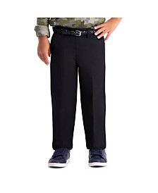 Haggar Boys Cool 18 Pro, Reg Fit, Flat Front Pant Size 4 - 7