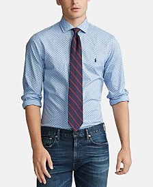 Polo Ralph Lauren Men's Classic Fit Printed Poplin Sport Shirt