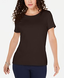 Karen Scott Solid T-Shirt, Created for Macy's