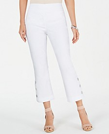 Button-Hem Ankle Pants, Created for Macy's