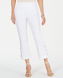 JM Collection Button-Hem Ankle Pants, Created for Macy's