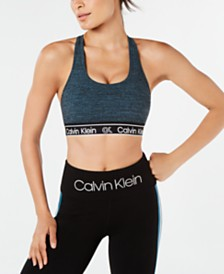 Calvin Klein Performance Strappy Keyhole-Back Medium-Impact Sports Bra