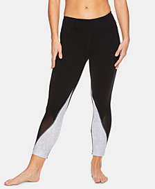 Gaiam Om Karma Colorblocked Mesh-Trimmed Capri Leggings