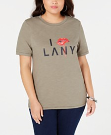 Lala Anthony Plus Size Cotton Graphic T-Shirt