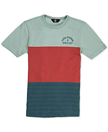 Volcom Big Boys Boulder Colorblocked Cotton T-Shirt
