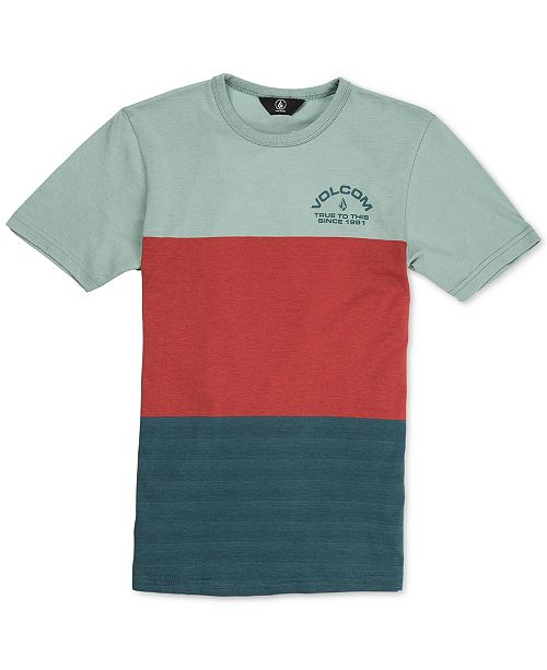 Volcom Big Boys Boulder Colorblocked Cotton T-Shirt