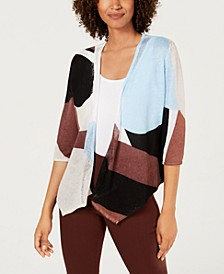 Colorblocked Open-Front Cardigan, Created For Macy's