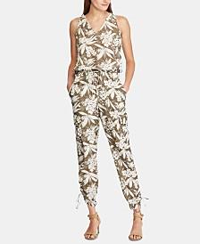 Lauren Ralph Lauren Petite Botanical-Print Crepe Jumpsuit