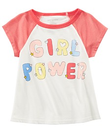 First Impressions Baby Girls Cotton Girl Power T-Shirt, Created for Macy's