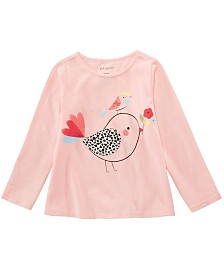 First Impressions Baby Girls Cotton Long-Sleeve Chicks T-Shirt, Created for Macy's